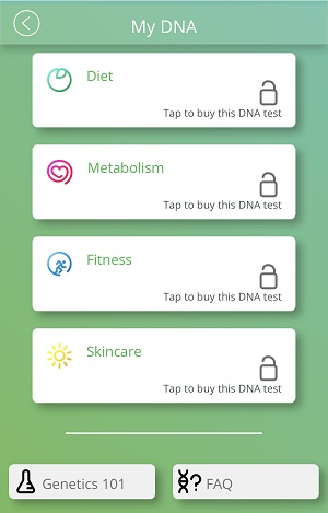 The My DNA section of the Evergreen Life app.