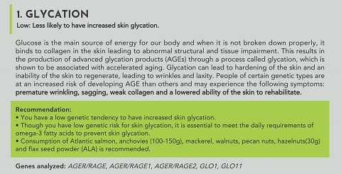 My result for glycation.