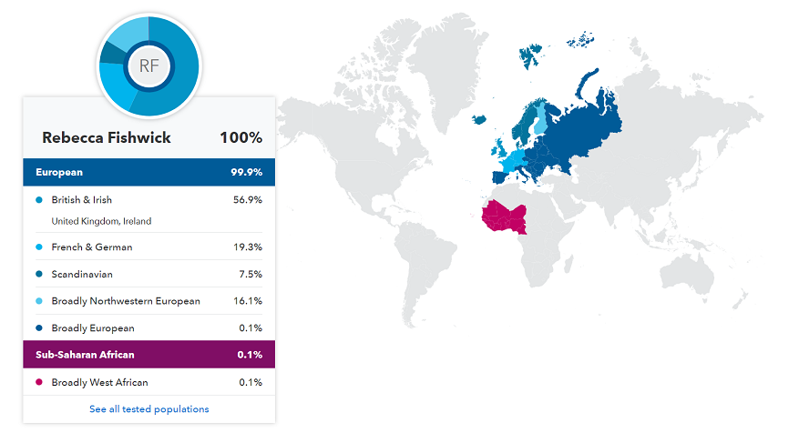 The 23andMe ancestry map