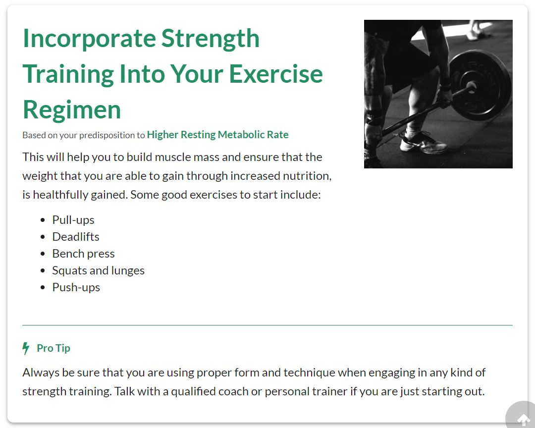 One of my exercise tips: Incorporate Strength Training.
