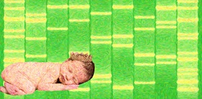 Newborn Baby DNA Art