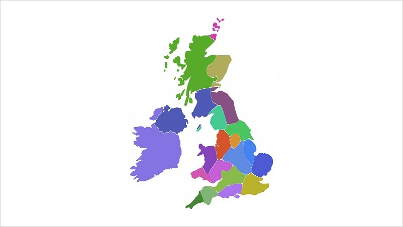UK Region Map