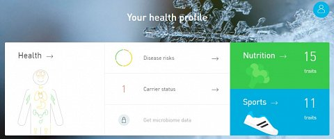 The Your Health Profile page.